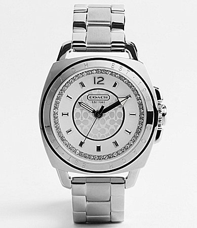 COACH BOYFRIEND CRYSTAL STAINLESS STEEL BRACELET