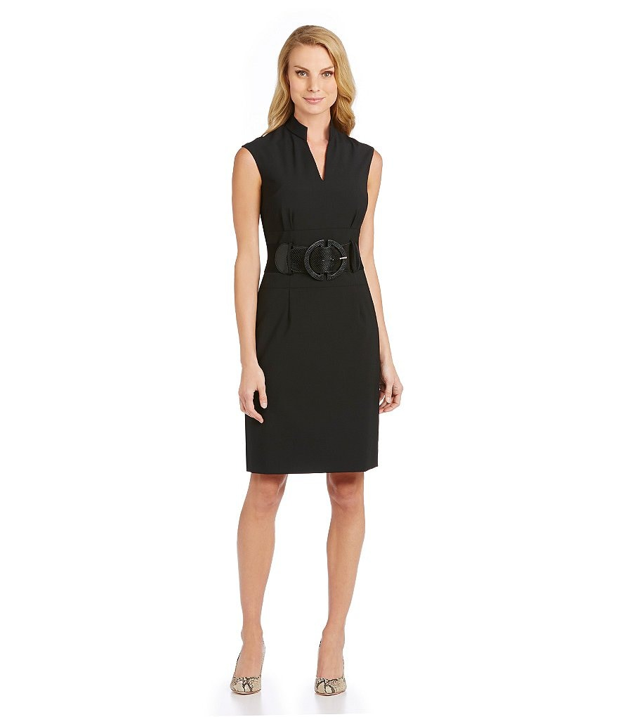 Antonio Melani Nasira Belted V-Neck Dress