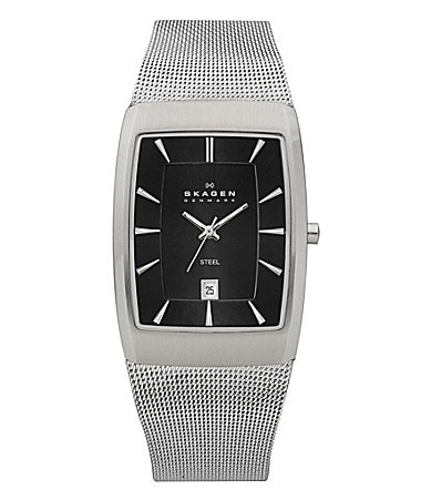 Skagen Rectangular Mesh-Band  Watch