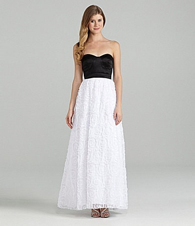 Hailey Logan Strapless Rosette Dress