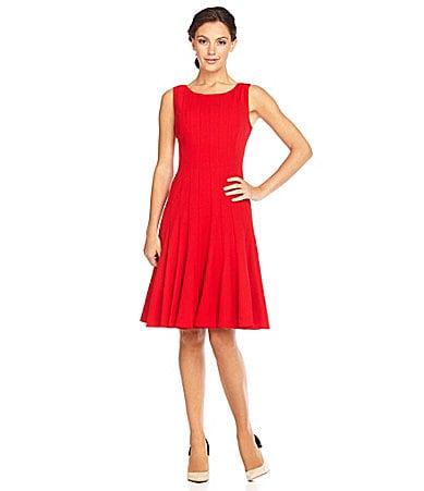 Calvin klein sleeveless luxe dress dillards