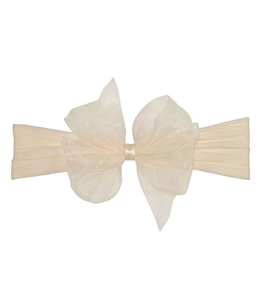 Starting Out Infant Organza Bow Headband