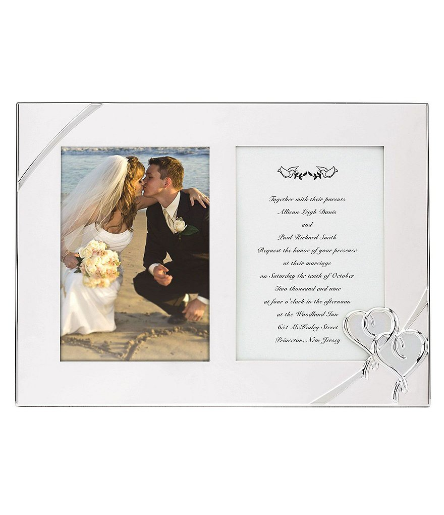Lenox True Love Double Wedding Invitation Picture Frame
