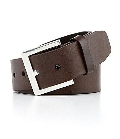 Roundtree & Yorke Big & Tall Wide Leather Belt