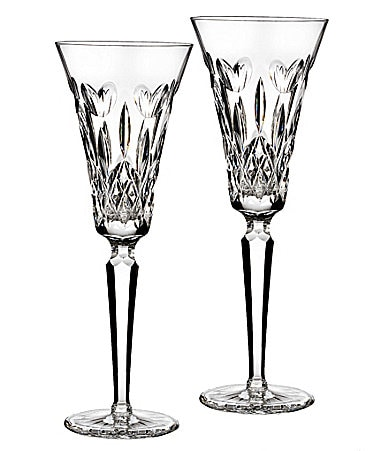 Waterford I Love Lismore Toasting Flute Pair