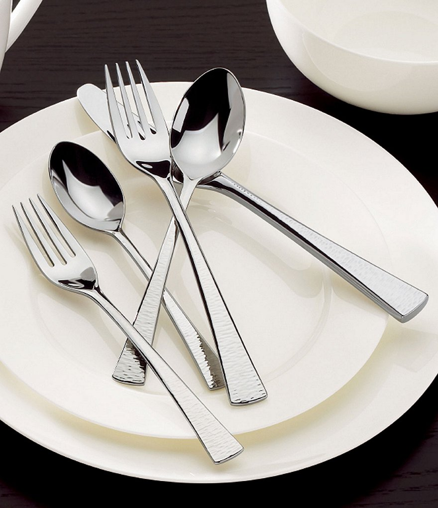 Gorham Biscayne Hammered 65-Piece Flatware Set