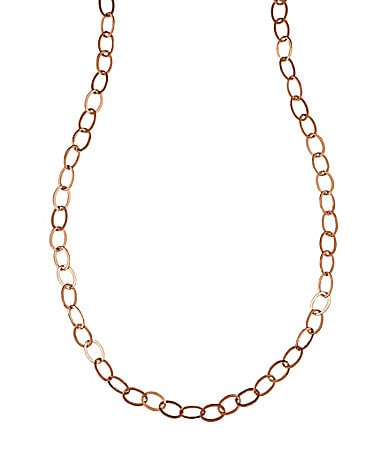 Dillard�s Tailored Rose Goldtone Chain Necklace