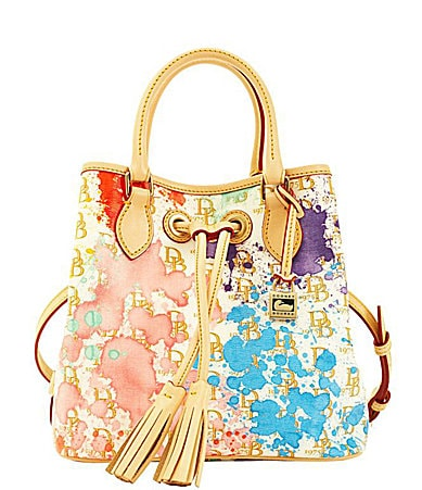 Dooney & Bourke Signature Splash-Print Drawstring Tote