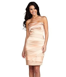 Jax Strapless Colorblock Dress