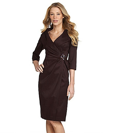KM Collections Woman Taffeta Dress
