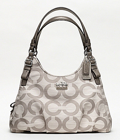 COACH MADISON OP ART SHANTUNG MAGGIE SHOULDER BAG