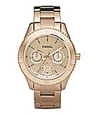 Fossil Stella Rose Goldtone Multifunction Watch