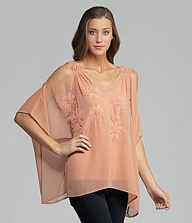 Gold Hawk Bouquet Silk Top