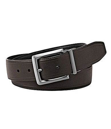 Cremieux Edge-Crease Reversible Leather Belt