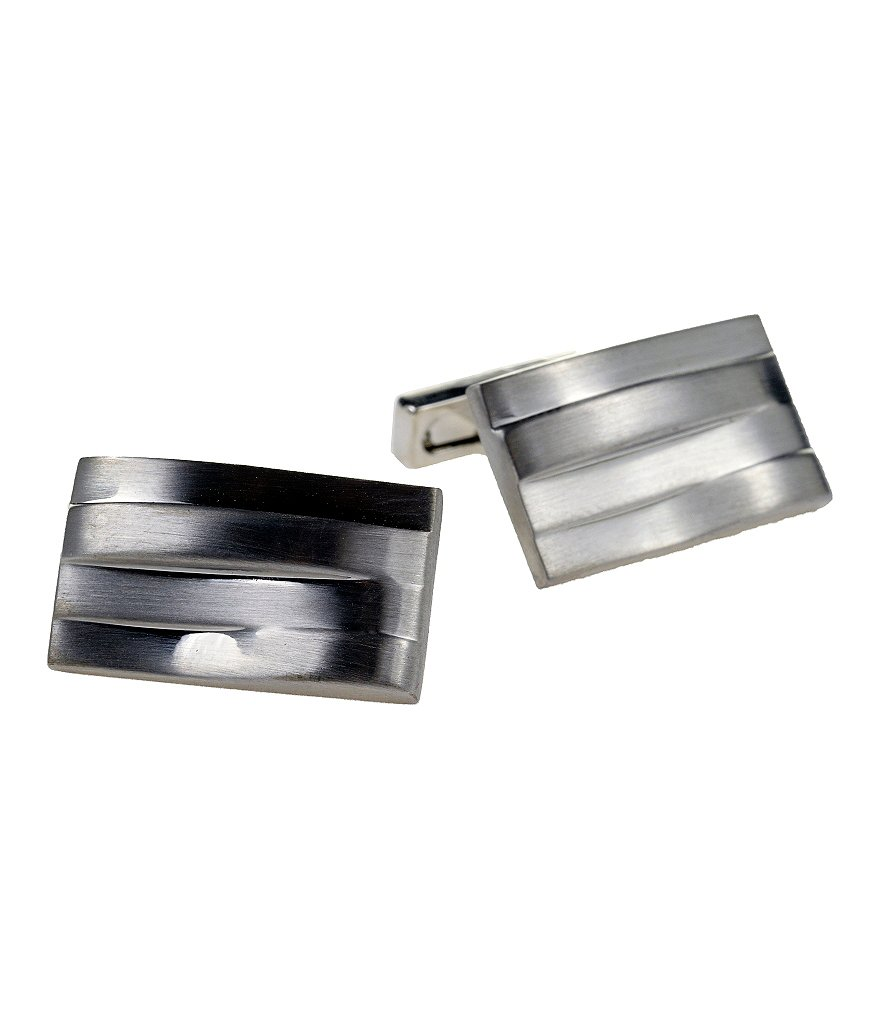 Kenneth Cole New York Layered Wave Cufflinks
