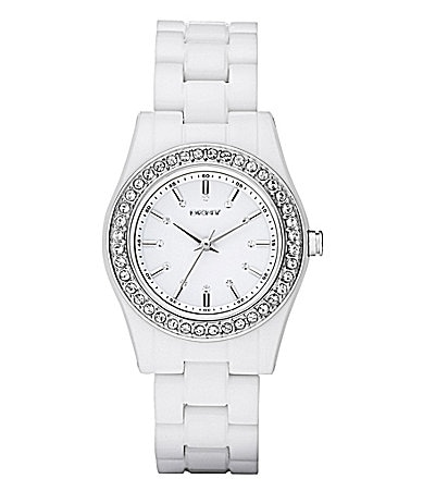 DKNY Glitz White Watch