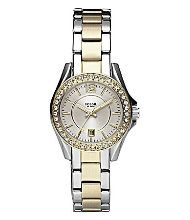 Fossil Two-Tone Mini Riley Watch