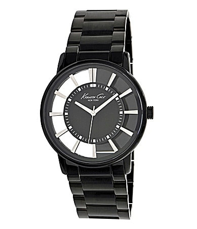 Kenneth Cole New York Black Skeleton Watch