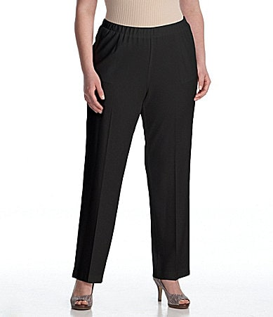 Investments II COLUMBUS AVE fit Solid Straight-Leg Pants