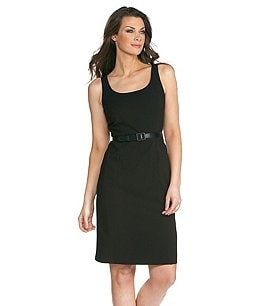 Mix by Tahari Belted Dress