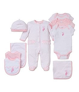 Little Me Baby Girls Preemie-9 Months Prima Ballerina Footed Coverall & Hat Set Image