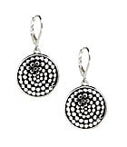 Dillard's Tailored Textured-Dots Round Drop Earrings