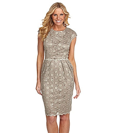 Alex Evenings Beaded Lace Dress