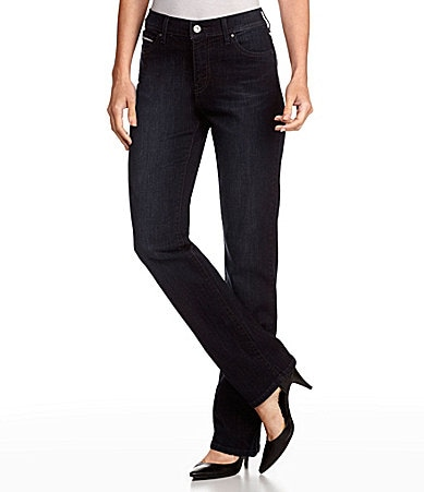 Levi�s Petites 512 Perfectly Slimming Straight-Leg Jeans