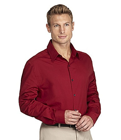 Perry Ellis Big & Tall Twill Sportshirt
