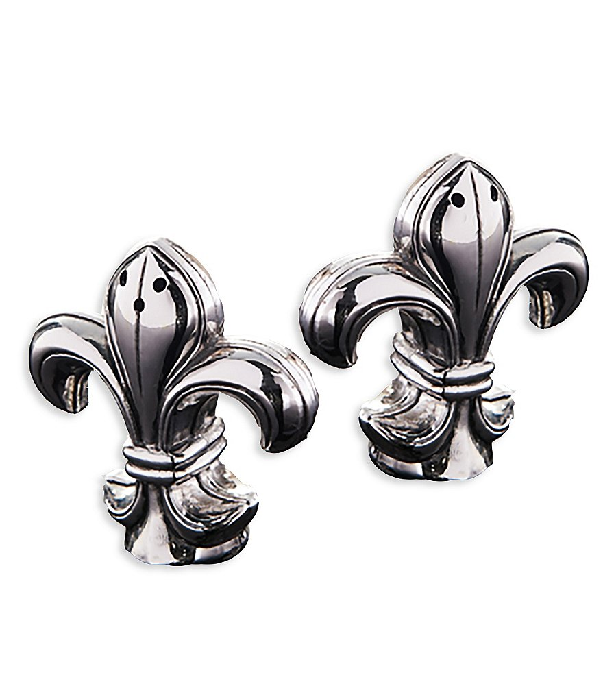 Mud Pie France Fleur de Lis Collection Salt & Pepper Shaker Set