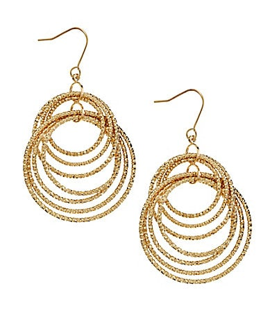 Natasha Accessories Shaky Orbital Drop Earrings