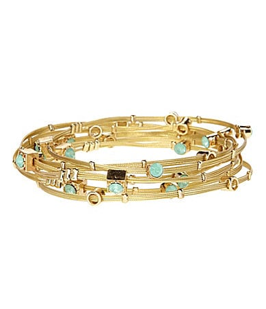 Anna & Ava Pacific Opal Wire-Bangle Set