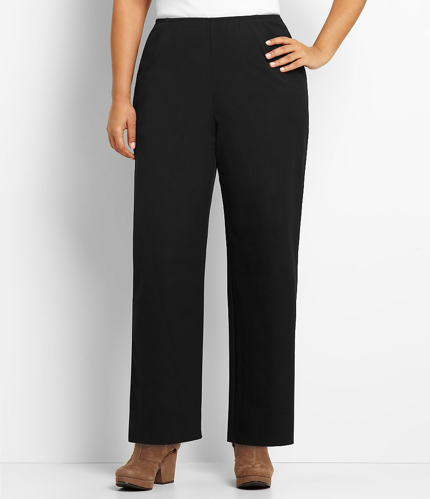 Eileen Fisher Plus Side-Zip Ankle Pants