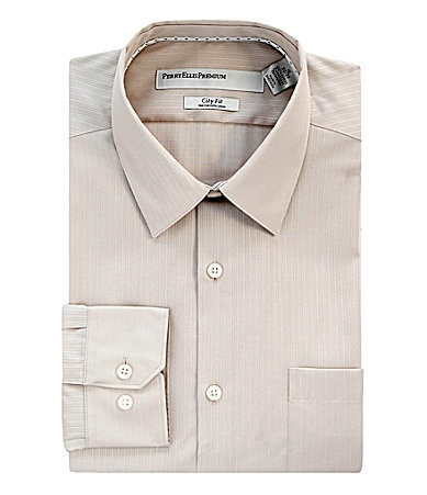 Perry Ellis Premium Point-Collar City Fit Dress Shirt