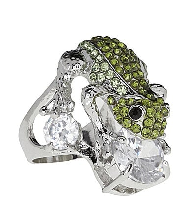 Tivoli Crystal Frog Ring