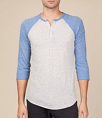 Alternative Apparel 3/4 Sleeve Raglan Henley