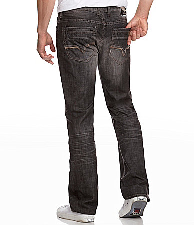 Buffalo David Bitton Delvis Super-Slim Straight-Leg Jeans