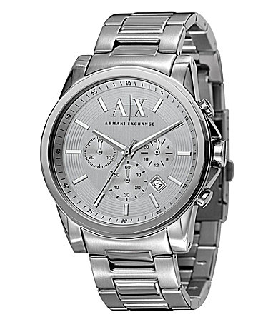 ax armani exchange silvertone chronograph dillards