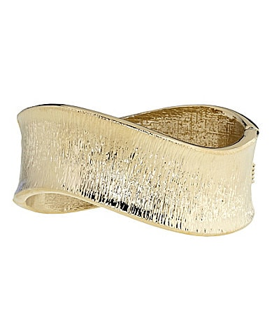 Dillard�s Boxed Collection Textured Hinge Bangle Bracelet