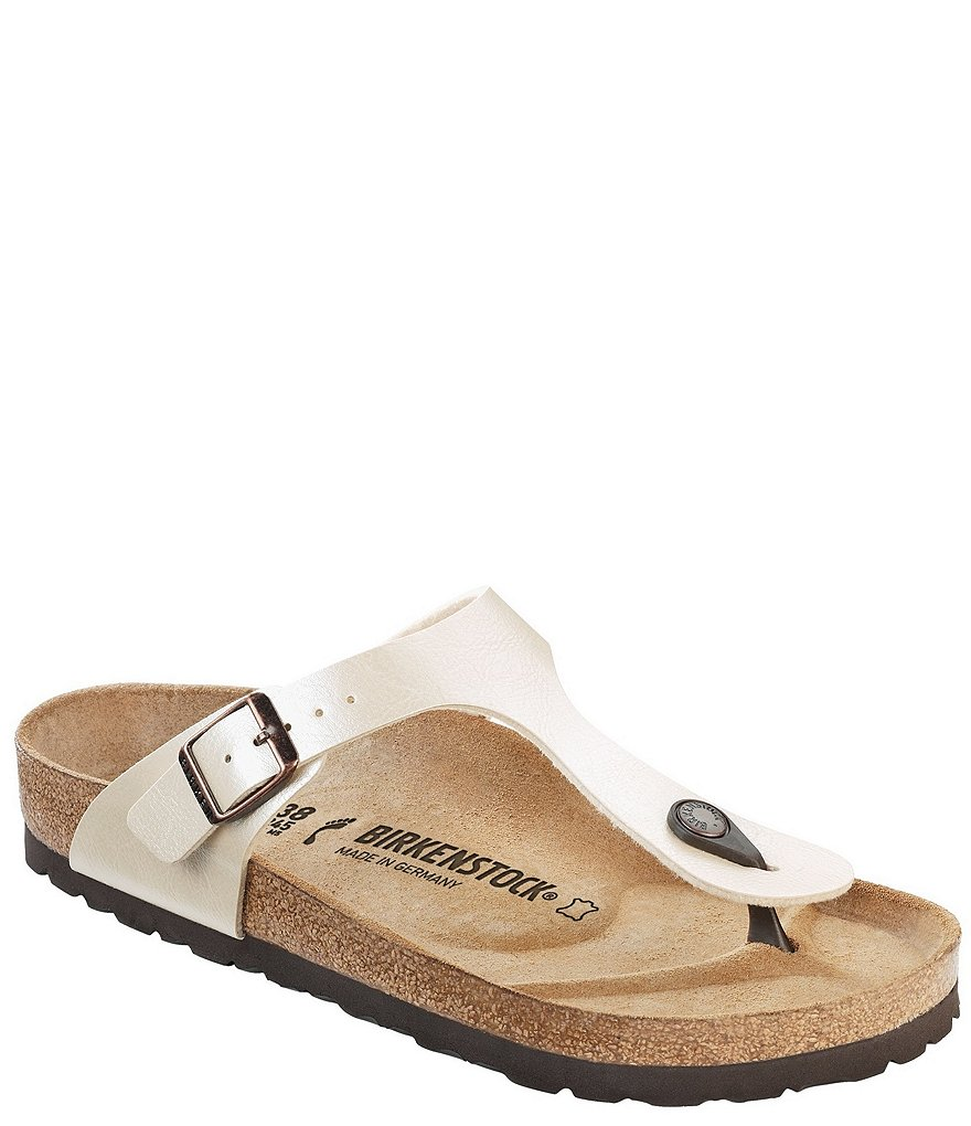 Birkenstock Gizeh Adjustable Strap Slide On Thong Sandals