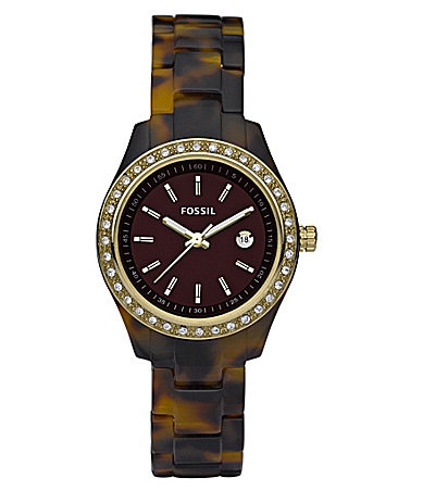 Fossil Mini Stella Faux-Tortoise Watch