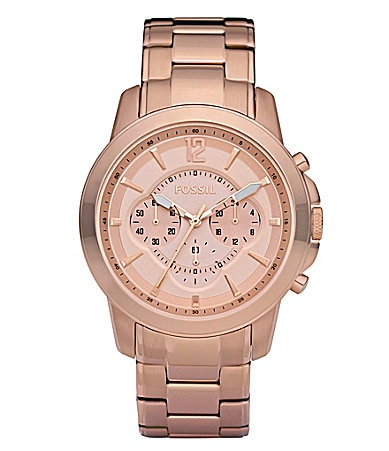 Fossil Grant Rose-Goldtone Chronograph Watch