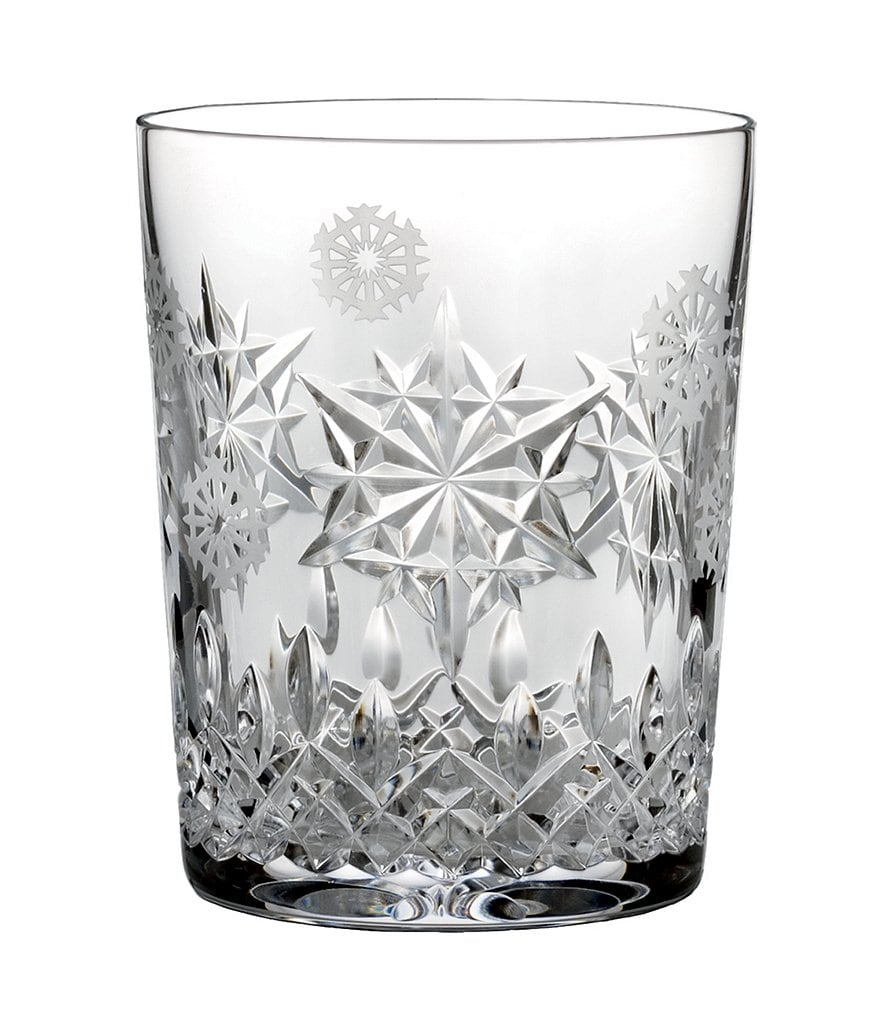 Waterford Snowflake Wishes Collection Premiere Edition Joy Double Old-Fashioned Glass