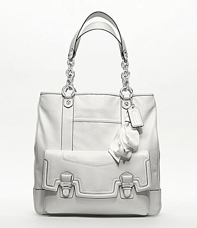 COACH POPPY LEATHER PUSHLOCK TOTE