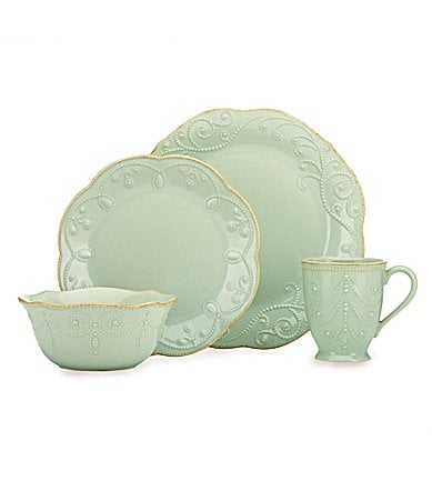 Lenox French Perle Ice Blue Dinnerware | Dillards.