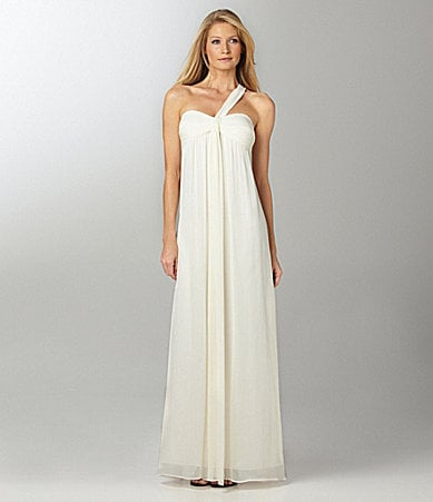 Max and Cleo Chiffon One-Shoulder Gown