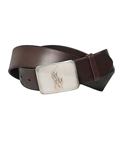 Polo Ralph Lauren Pony Plaque Brown Belt