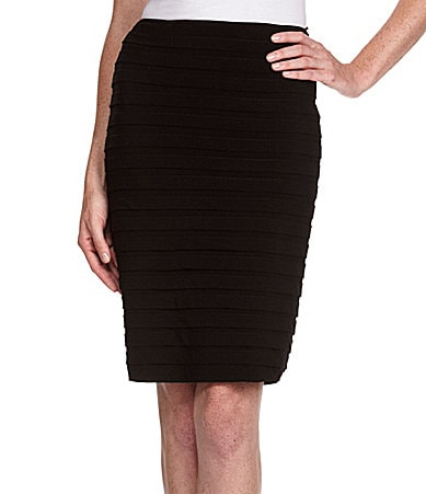 Adrianna Papell Shutter-Pleat Skirt