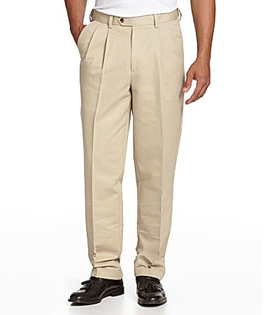 Roundtree & Yorke Big & Tall Pleated Expander Pants