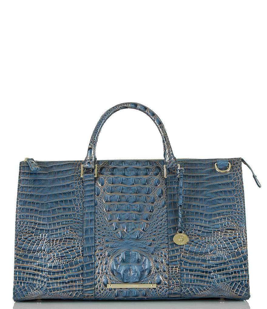 Brahmin Melbourne Collection Anywhere Croco-Embossed Weekender Bag